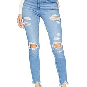 Levi Women's 721 High Rise Ripped Jeans